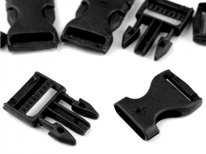 Spona trojzubec š. 20 mm (5sad) - černá