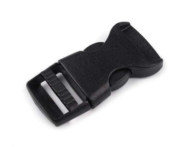 Spona trojzubec š. 15 mm (25sad) - černá