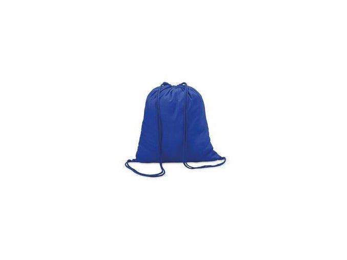 Bavlněný vak se šňůrou - modrý