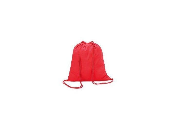 Bavlněný vak se šňůrou - červený