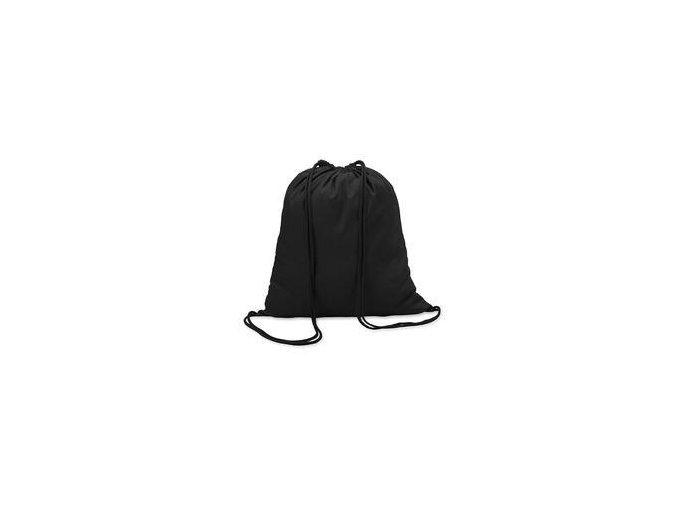 Bavlněný vak se šňůrou - černá