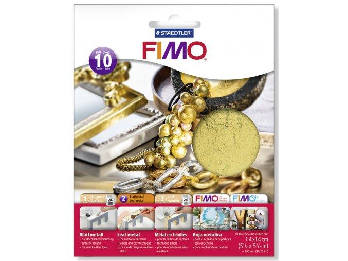 FIMO Kovové plátky (10ks) - 3 druhy