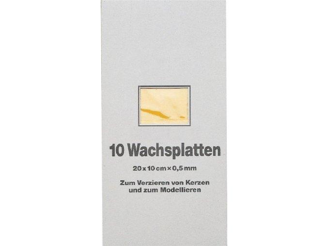 Vosková fólie, jednobarevná, 20x10cm - 44 odst.