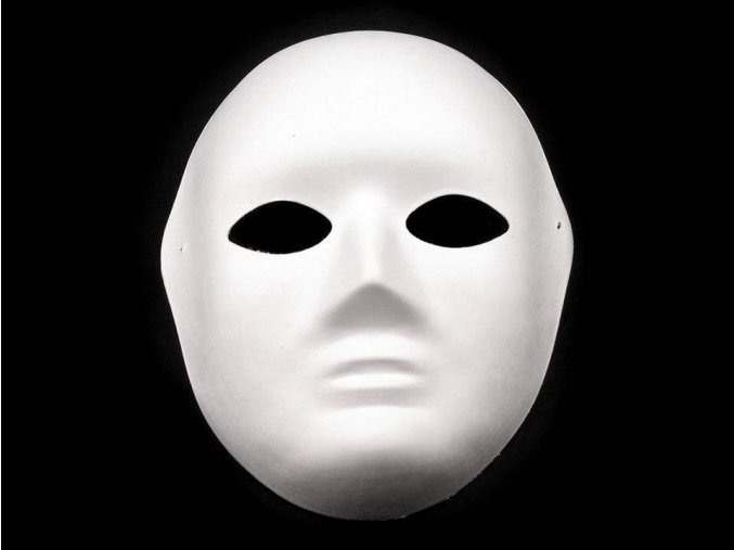 Maska na obličej, pánská papírová (19x24 cm)