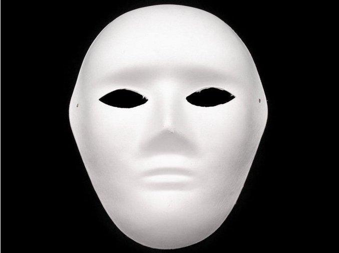 Maska na obličej, pánská papírová (19x24cm)