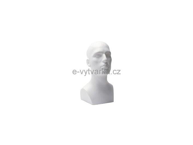 Polystyrenová bysta muž 30x30x40 cm
