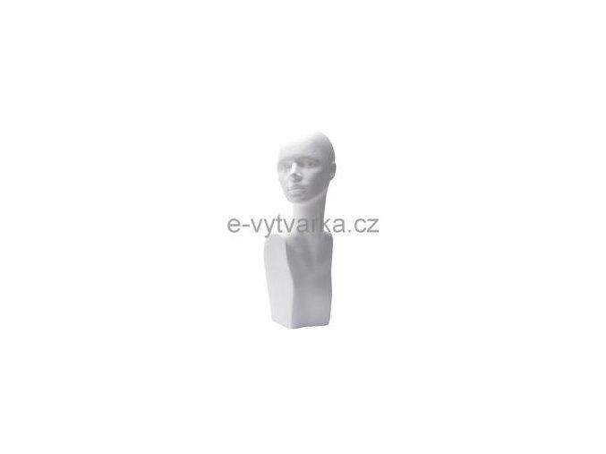Polystyrenová bysta žena 16x20x42 cm