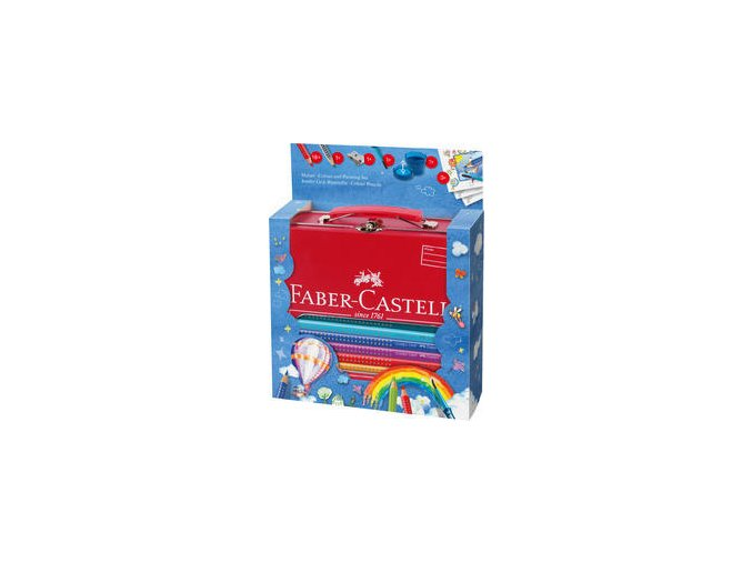 Pastelka Faber-Castell Jumbo GRIP dárkový kufřík 18ks+příslušenství