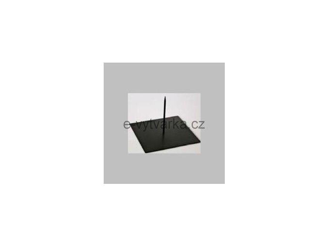 Kovová základna s trnem Powertex (25x25cm)