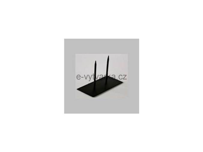 Kovová základna s dvěma trny Powertex (10x20cm)