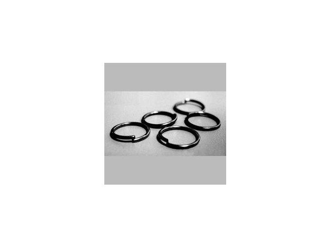 Spojovací kroužky pr.5 mm (50-1000ks) - hematit