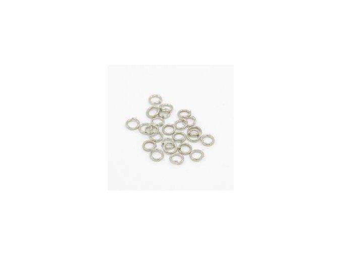Spojovací kroužky pr.4 mm (100-1000ks) - platina
