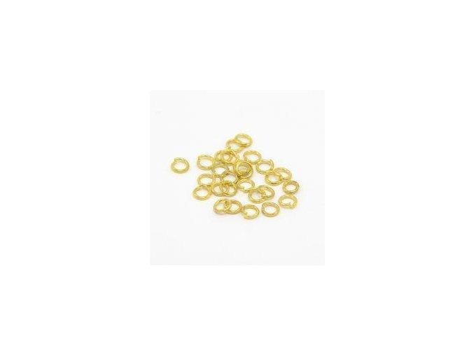 Spojovací kroužky pr.4 mm (100-1000ks) - zlato