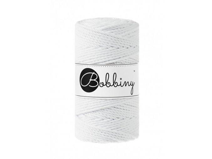 Bobbiny Macrame 3PLY Regular 3mm (100m) - WHITE