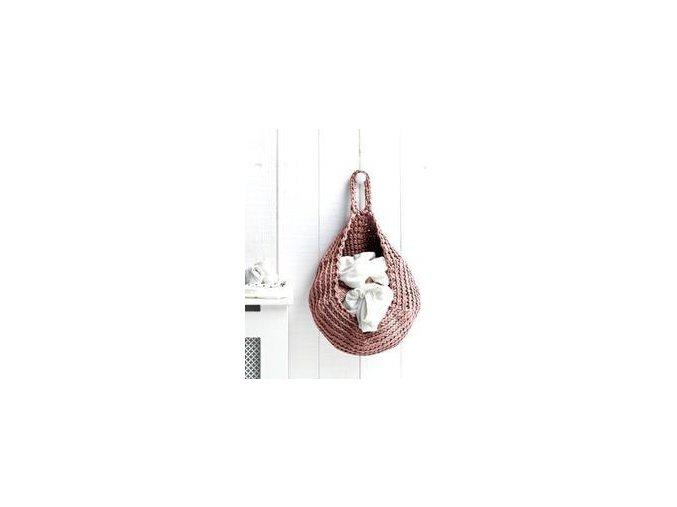 SET Hoooked Zpagetti závěsný košík - Pink