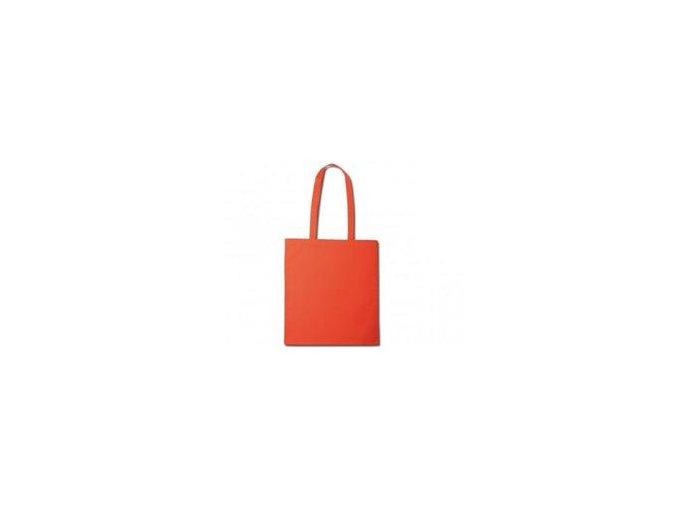 Bavlněná taška 38x41cm, dlouhá ucha - oranžová