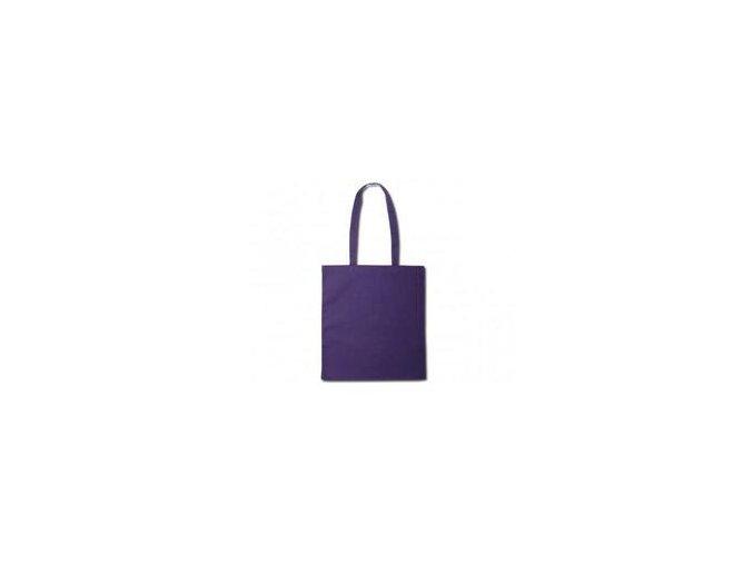Bavlněná taška 38x41cm, dlouhá ucha - fialová