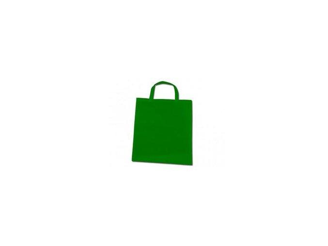 Bavlněná taška 22x26cm, krátká ucha - zelená
