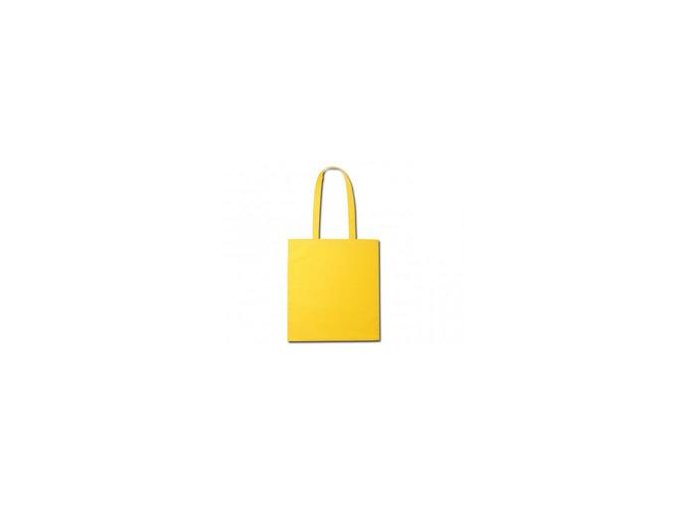 Bavlněná taška 38x41cm, dlouhá ucha - žlutá