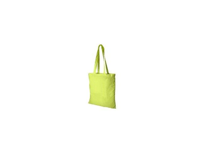 Bavlněná taška 38x41cm, dlouhá ucha - limetková