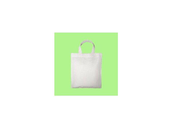 Bavlněná taška 22x26cm, krátká ucha - přírodní