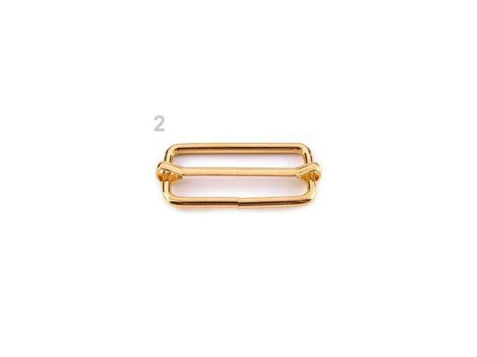 Posunovač na popruhy 18 x 38 mm (bal. 10 ks) - zlatá