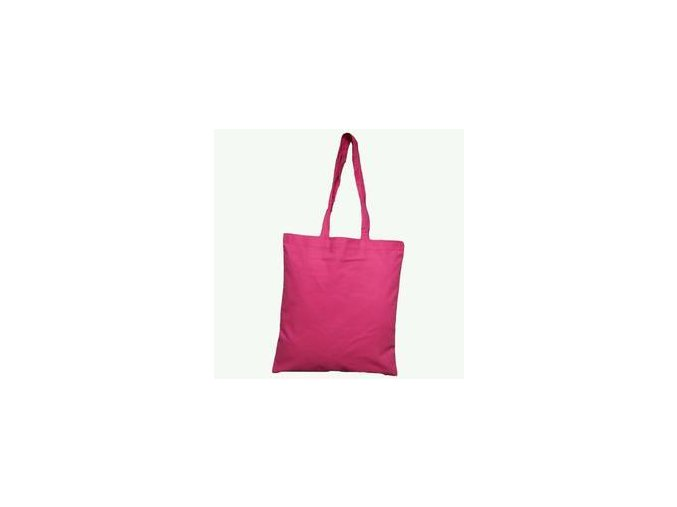 Bavlněná taška 38x42cm, dlouhá ucha - dark pink