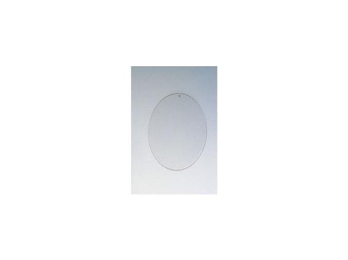 Plastový ovál plochý průhledný; 10,5/8 cm