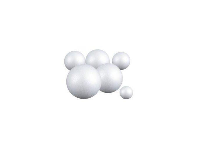 Polystyrenová koule plná, pr. 3 - 15 cm (bal.1 - 8 ks)