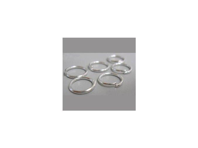 Spojovací kroužky pr.8 mm (50-1000ks) - stříbro