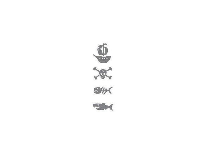 Samolepicí motivová šablona (13x40 cm) - Klučičí motivy