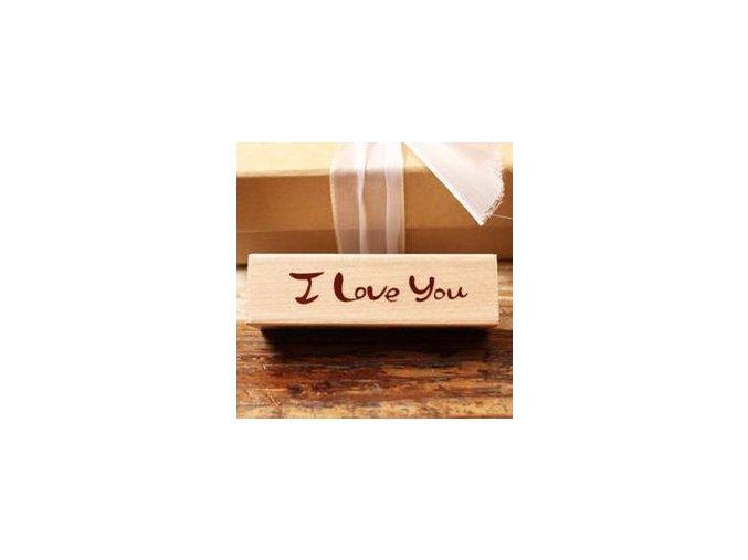 Razítko - I Love You (70x18x25 mm)