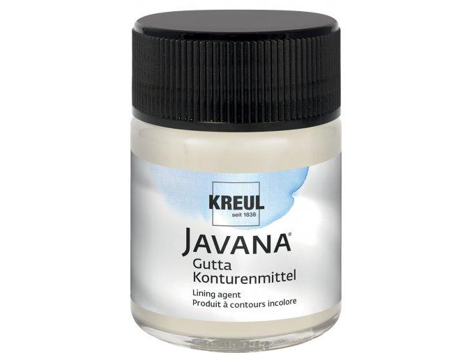 Gutta JAVANA (50 ml) hedvábí+textil - bezbarvá kontura