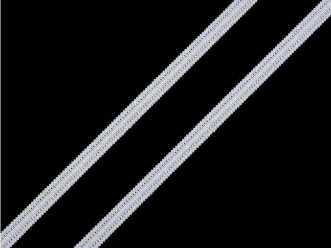 Plochá pruženka na roušky 5mm (10m) - white