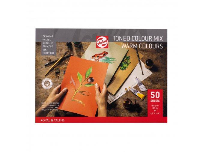 Tónovaný skicák RT - teplé odstíny A4, A3 (180 g/m2)