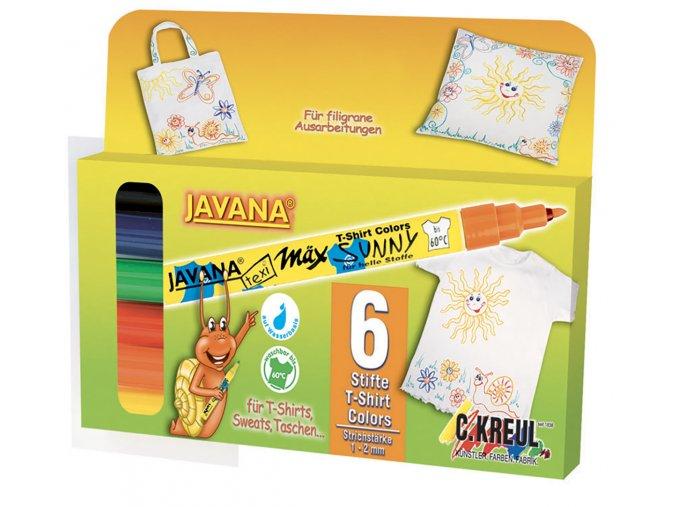 Fix na světlý textil Javana, hrot 1 - 2 mm - sada 6 ks