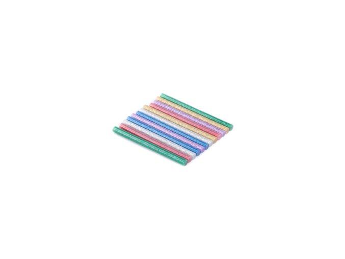 Tyčinky tavné glitrové 7mm,  12ks