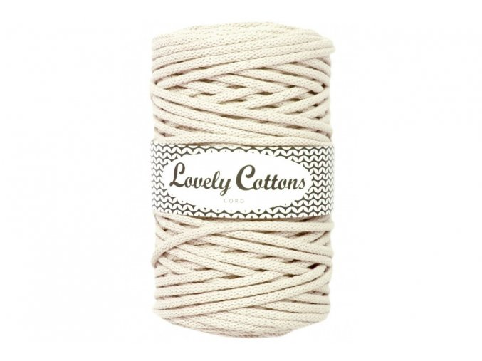 Lovely Cotton ŠŇŮRY - 5mm (100m) - NATURAL
