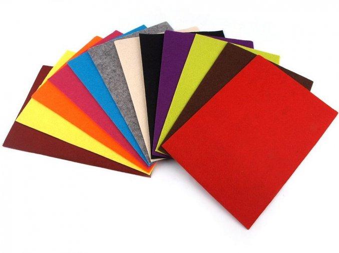 Filc / plsť 20 x 30 cm, 2-3 mm - 24 odstínů