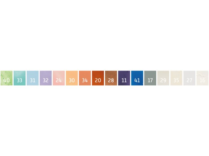 Sada enkaustických vosků - pastelová (16ks)