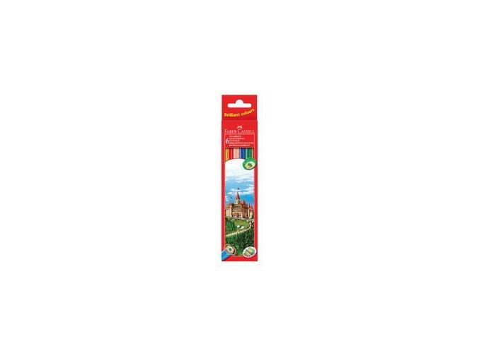 Pastelka šestihranné Eco Faber-Castell, pap.krabička 6ks