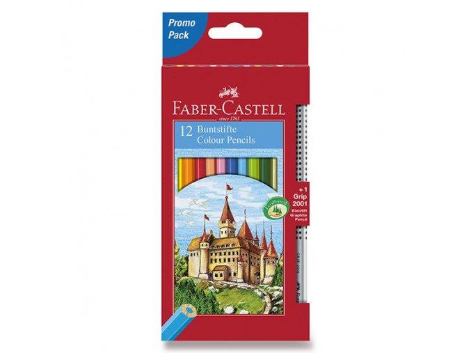 Pastelky FABER-CASTELL 12ks + grafitová tužka