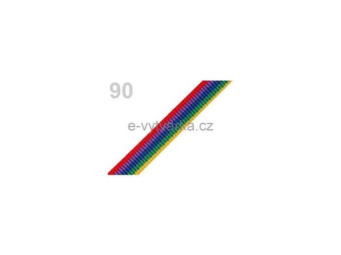 Popruh polypropylén š.20mm (5m) - pestrobarevná
