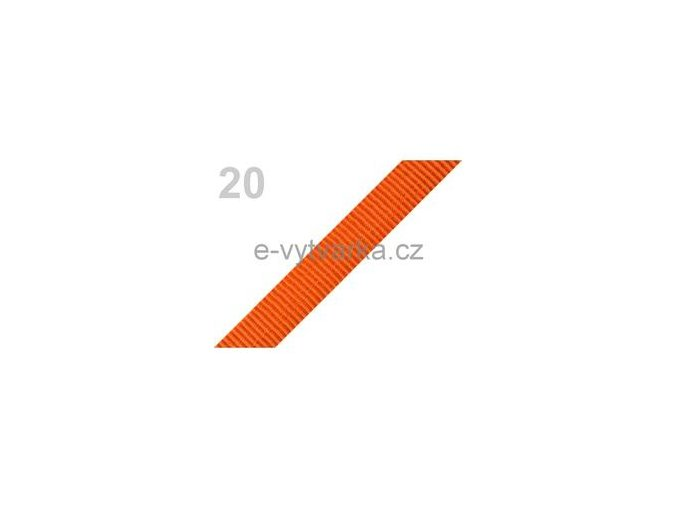 Popruh polypropylén š.20mm (5m) - oranžová