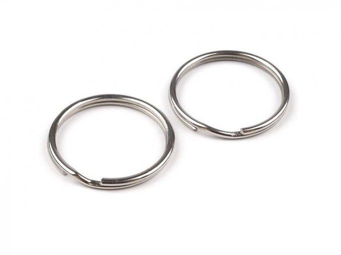 Kroužek na klíče pr.24 mm (10ks) - nikl