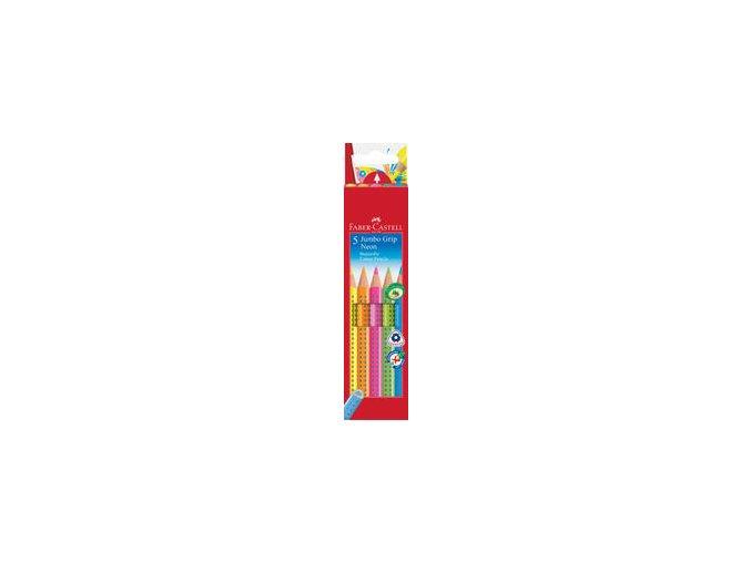 Pastelka Jumbo Grip Neon 6ks, pap.krabička
