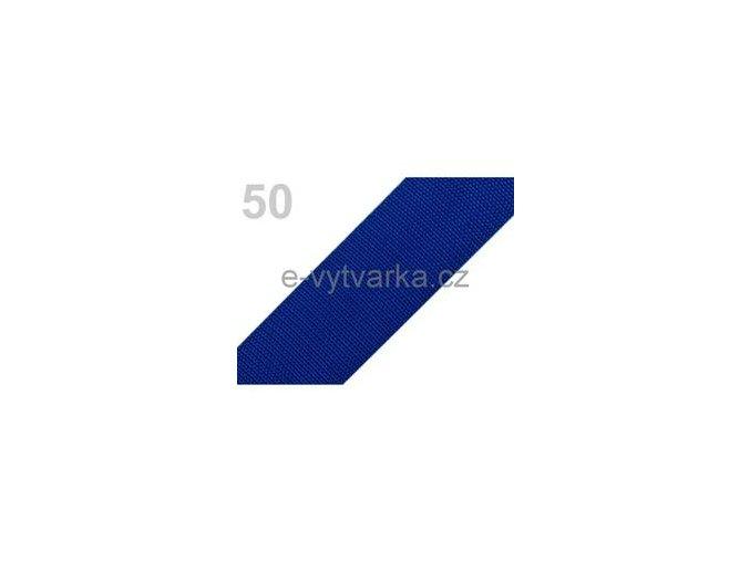 Popruh polypropylén š.50mm (5m) - modrá sytá