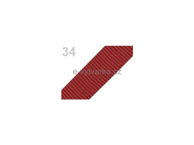 Popruh polypropylén š.50mm (5m) - tm. červeň