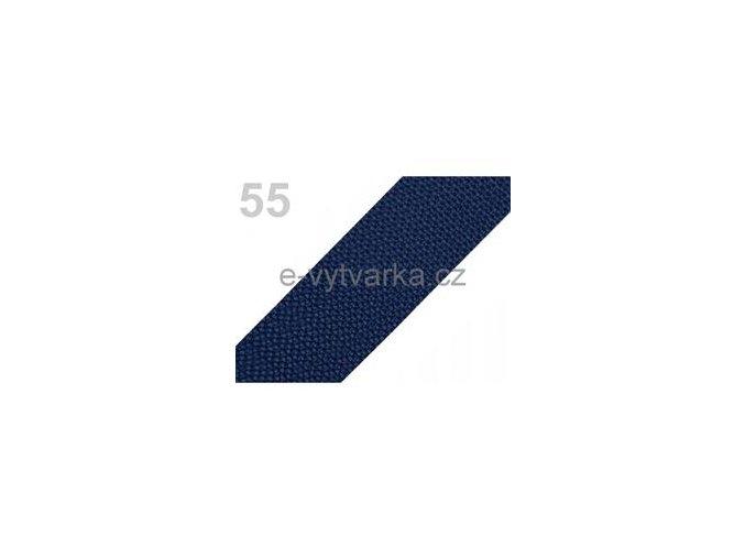 Popruh polypropylén š.50mm (5m) - modrá tm.