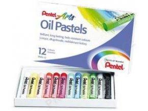 Olejové pastely Pentel 12 ks